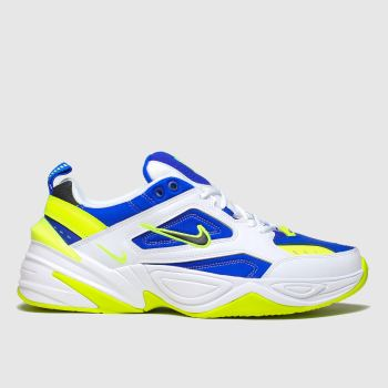 Nike White & Blue M2k Tekno Mens Trainers