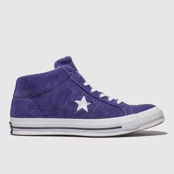 Converse Purple One Star Mid Mens Trainers