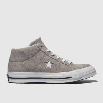 Converse Grey One Star Mid Mens Trainers
