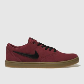 Nike Sb Red Check Solarsoft Mens Trainers