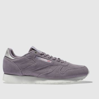 Reebok Purple Classic Leather Mcc Mens Trainers
