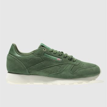 Reebok Green Classic Leather Mcc Mens Trainers