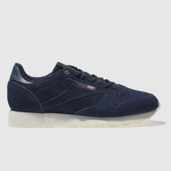 Reebok Navy Classic Leather Mcc Mens Trainers