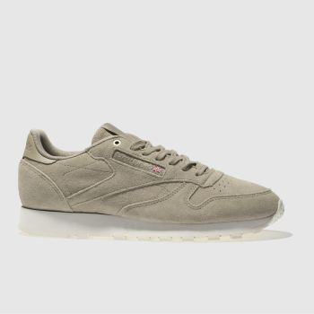 Reebok Beige Classic Leather Mcc Mens Trainers