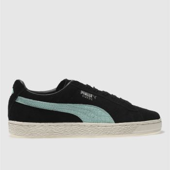 Puma Black and blue Suede Diamond Mens Trainers