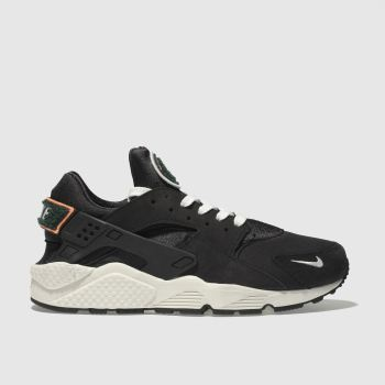 new style 60569 d8bb7 NIKE BLACK AIR HUARACHE RUN PREMIUM TRAINERS
