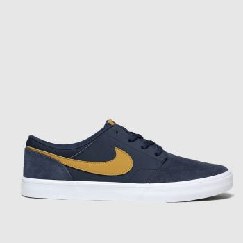 Nike Sb Navy Portmore Ii Solarsoft Mens Trainers