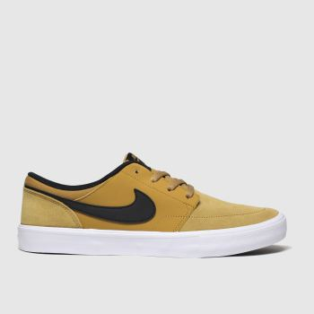 Nike Sb Tan Portmore Ii Solarsoft Mens Trainers