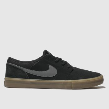 Nike Sb Black & Grey PORTMORE II SOLARSOFT Trainers