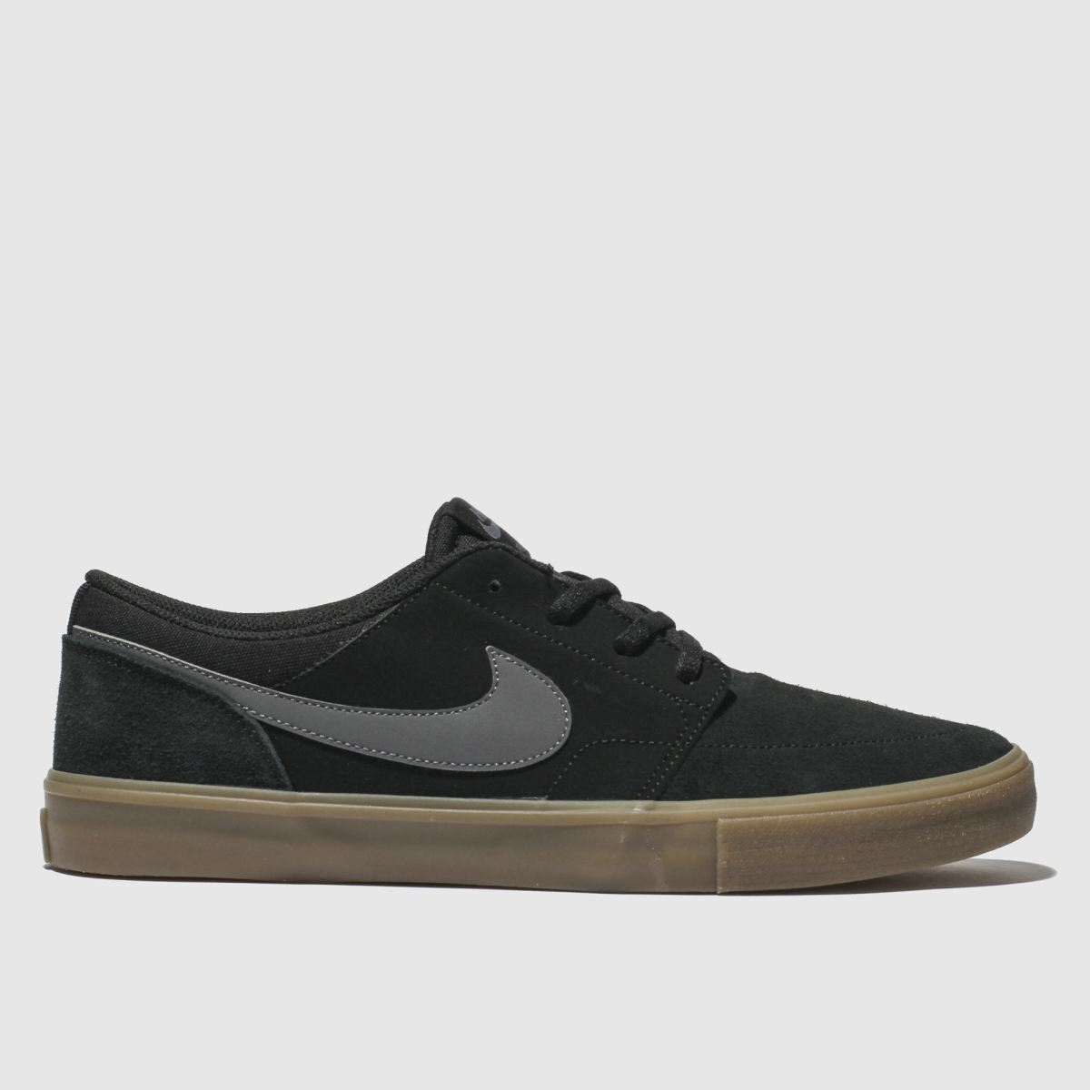 Nike Sb Black & Grey Portmore Ii Solarsoft Trainers