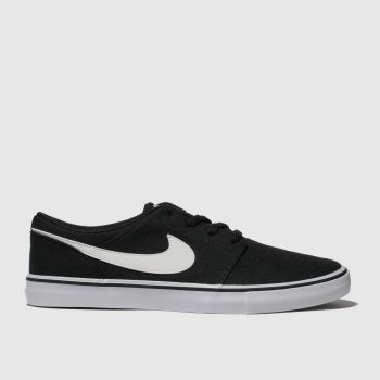 Nike SB Black & White Portmore Ii Solarsoft Mens Trainers