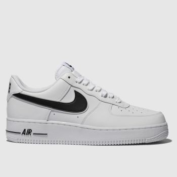sale retailer bdee1 cdc2b Nike White   Black Air Force 1 07 Mens Trainers