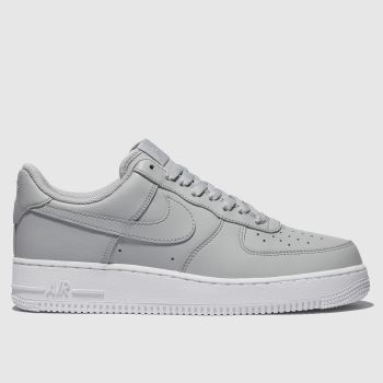 Nike Light Grey Air Force 1 07 Mens Trainers