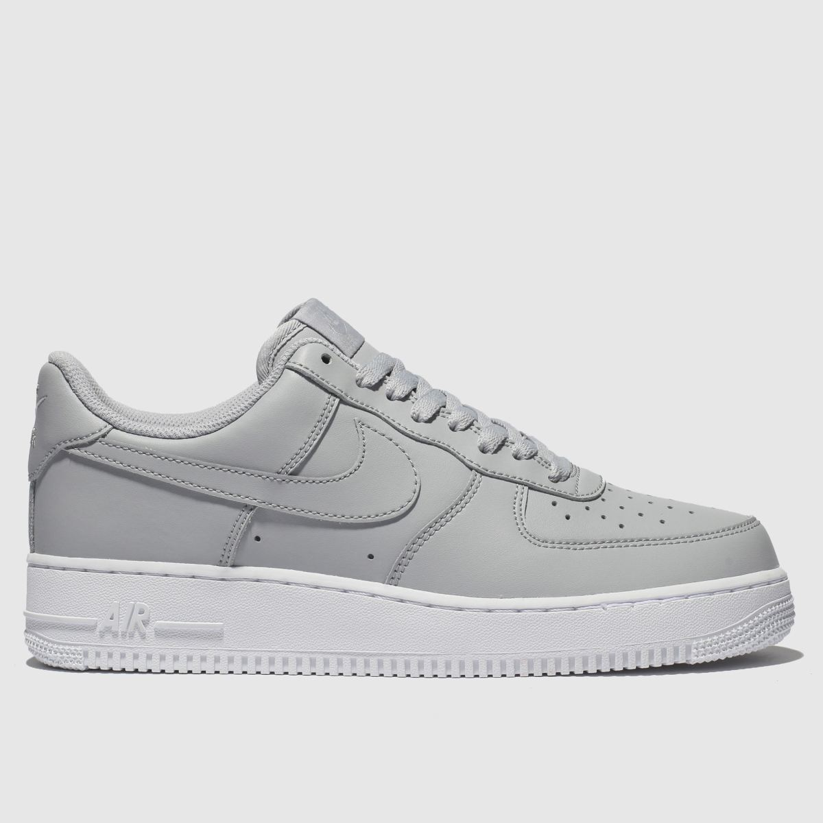size 40 e85f5 d558a Nike Light Grey Air Force 1 07 Trainers