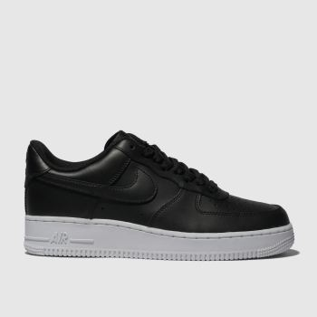 Nike Black & White Air Force 1 07 c2namevalue::Mens Trainers