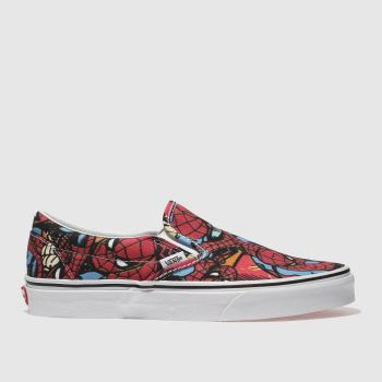 Vans Red Slip-On Marvel Spider-Man Mens Trainers