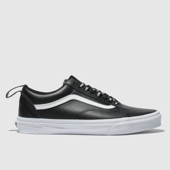 Vans Black & White Old Skool Webbing Mens Trainers