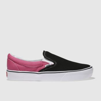 Vans Black & pink Slip-On Lite Mens Trainers