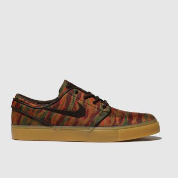 nike sb brown & red zoom janoski premium trainers