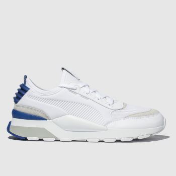 puma white & navy rs-0 trainers