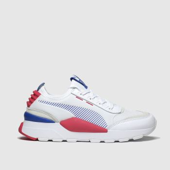 Puma White & Pink Rs-0 Trainers