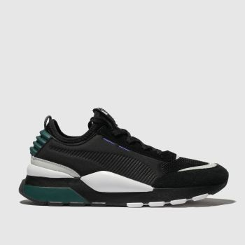 Puma Black & Green Rs-0 Mens Trainers