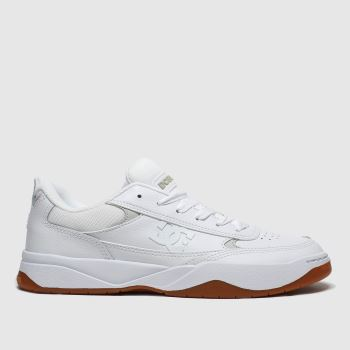 Dc White & Brown Penza c2namevalue::Mens Trainers