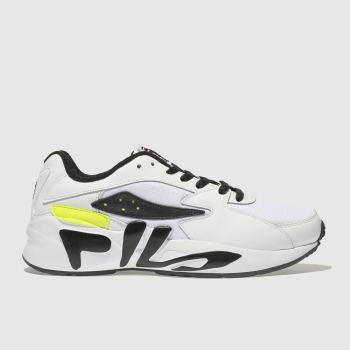 Fila White & Black Mindblower Mens Trainers