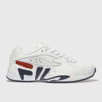 2faa1fe7b738b0 Fila White   Navy Mindblower Mens Trainers