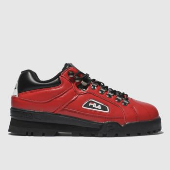 Fila Red Trailblazer Mens Trainers