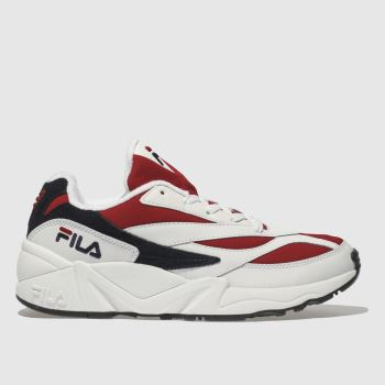Fila White & Red Venom Low Mens Trainers