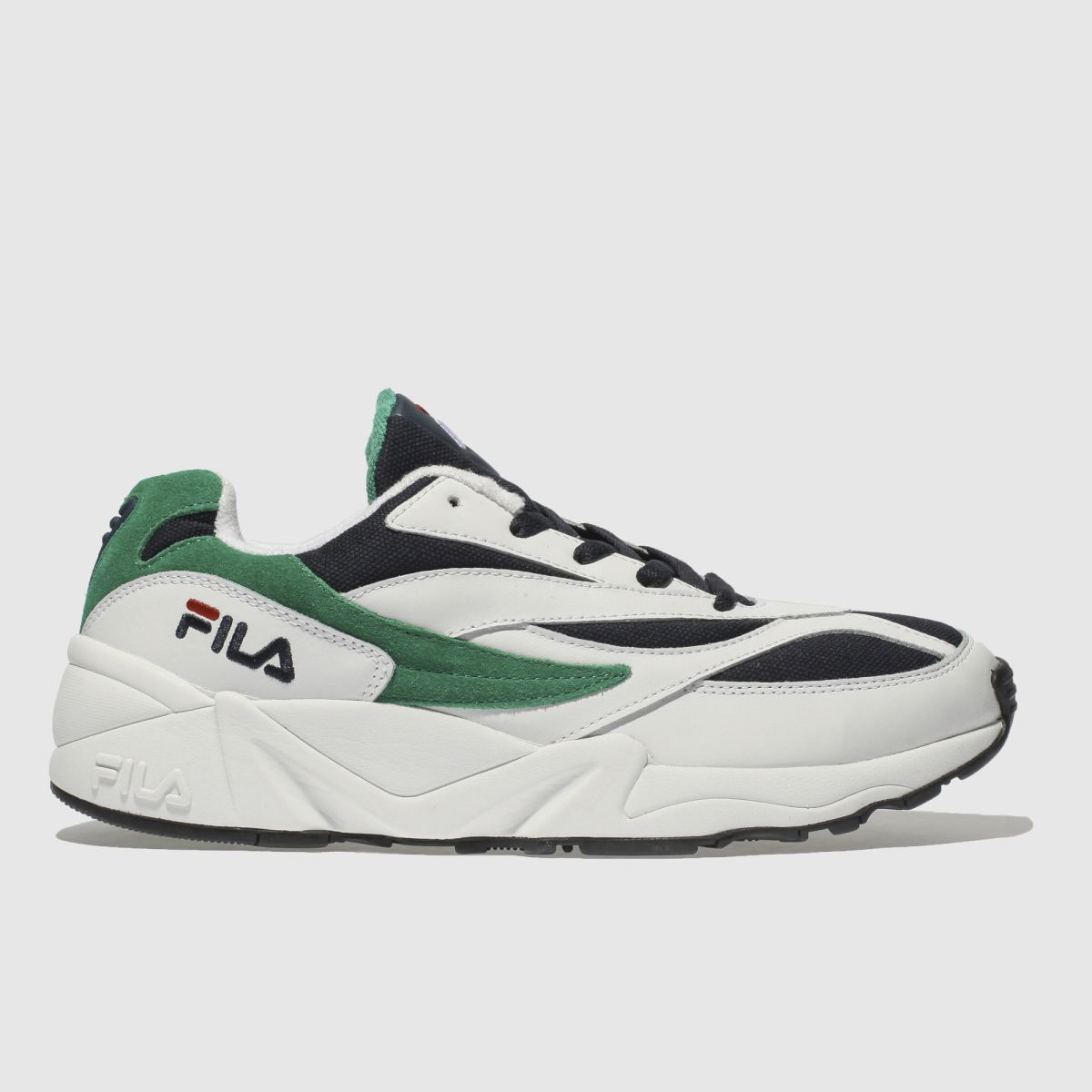 Fila White & Navy Venom Low Trainers