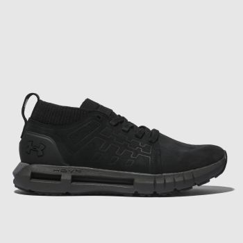 Under Armour Black Hovr Lace Up Mid Mens Trainers