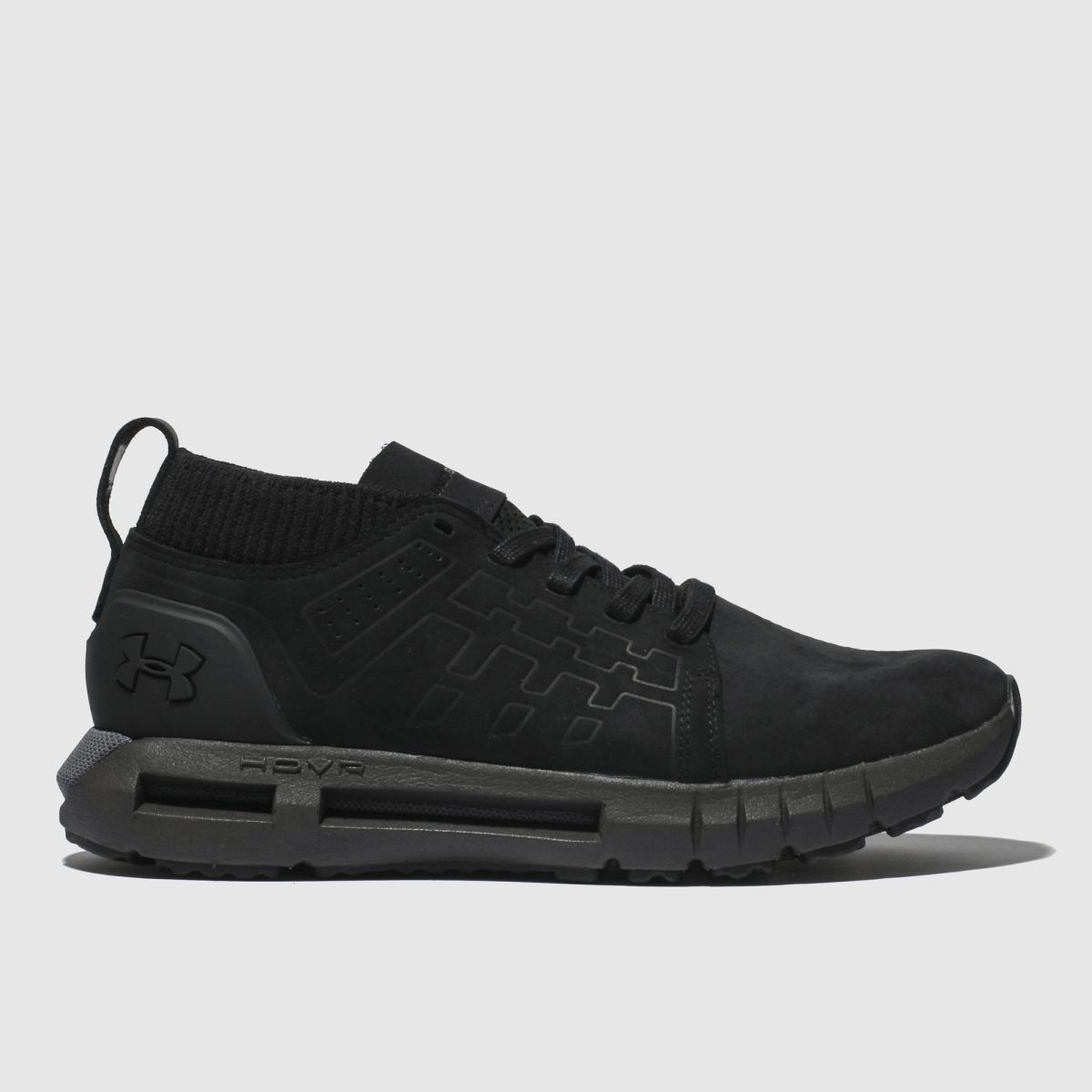 Under Armour Black Hovr Lace Up Mid Trainers