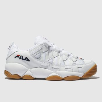 Fila White Spaghetti Low Mens Trainers