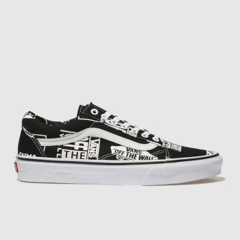 Vans Black & White Old Skool Logo Mix Mens Trainers