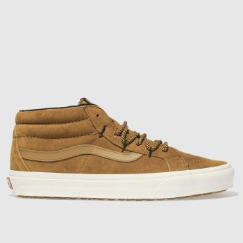 Vans Tan Sk8-Mid Reissue Ghillie Mte Mens Trainers