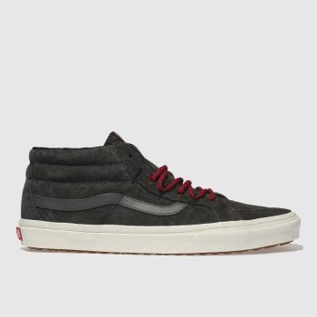 Vans Dark Grey Sk8-Mid Reissue Ghillie Mte Mens Trainers