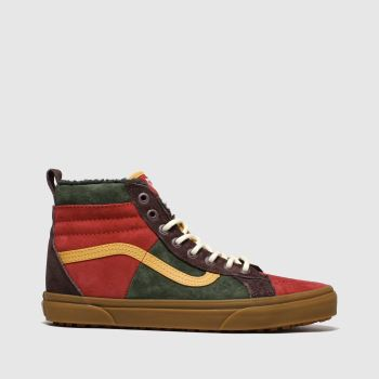 Vans Brown & Red Sk8-hi 46 Mte Mens Trainers