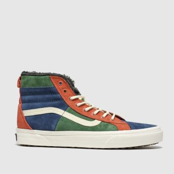 Vans Navy & Green Sk8-hi 46 Mte Mens Trainers