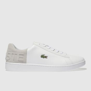 Lacoste White & grey Carnaby Croc Mens Trainers