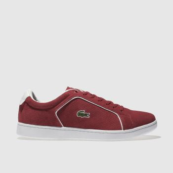 Lacoste Red Carnaby Evo Mens Trainers