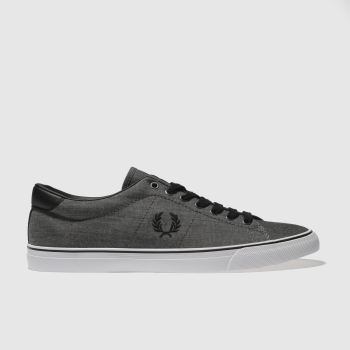Fred Perry Black Underspin Shirting Mens Trainers