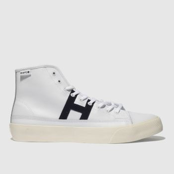 Huf White & Black Hupper 2 Hi Mens Trainers