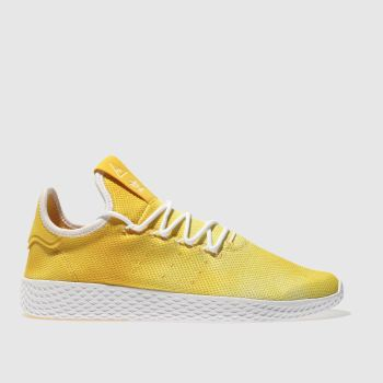 Adidas Yellow Tennis Pharrell Hu Holi Mens Trainers