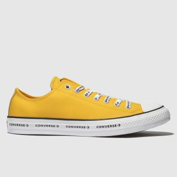 Converse Yellow All Star Ox Logo Laces Mens Trainers