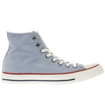 CONVERSE BLUE ALL STAR OMBRE WASH HI TRAINERS