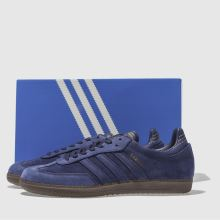 hot sale online fbd37 14356 adidas blue samba fb trainers