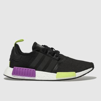 Adidas Black & Purple Nmd_R1 Mens Trainers
