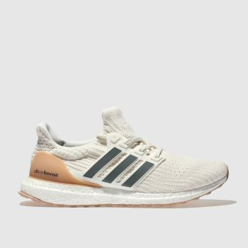 Adidas White & Navy Ultraboost Mens Trainers